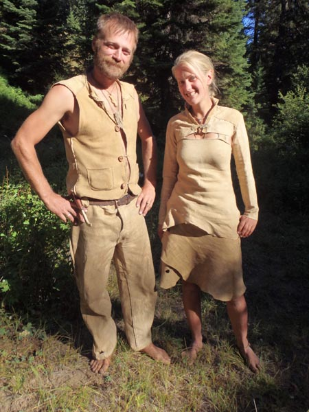 Dave and Sue's buckskin clothing.
